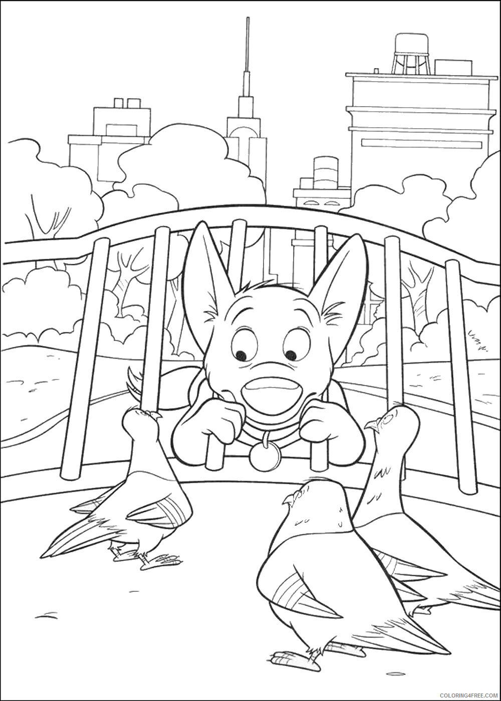 Bolt Coloring Pages TV Film bolt_cl_12 Printable 2020 01173 Coloring4free