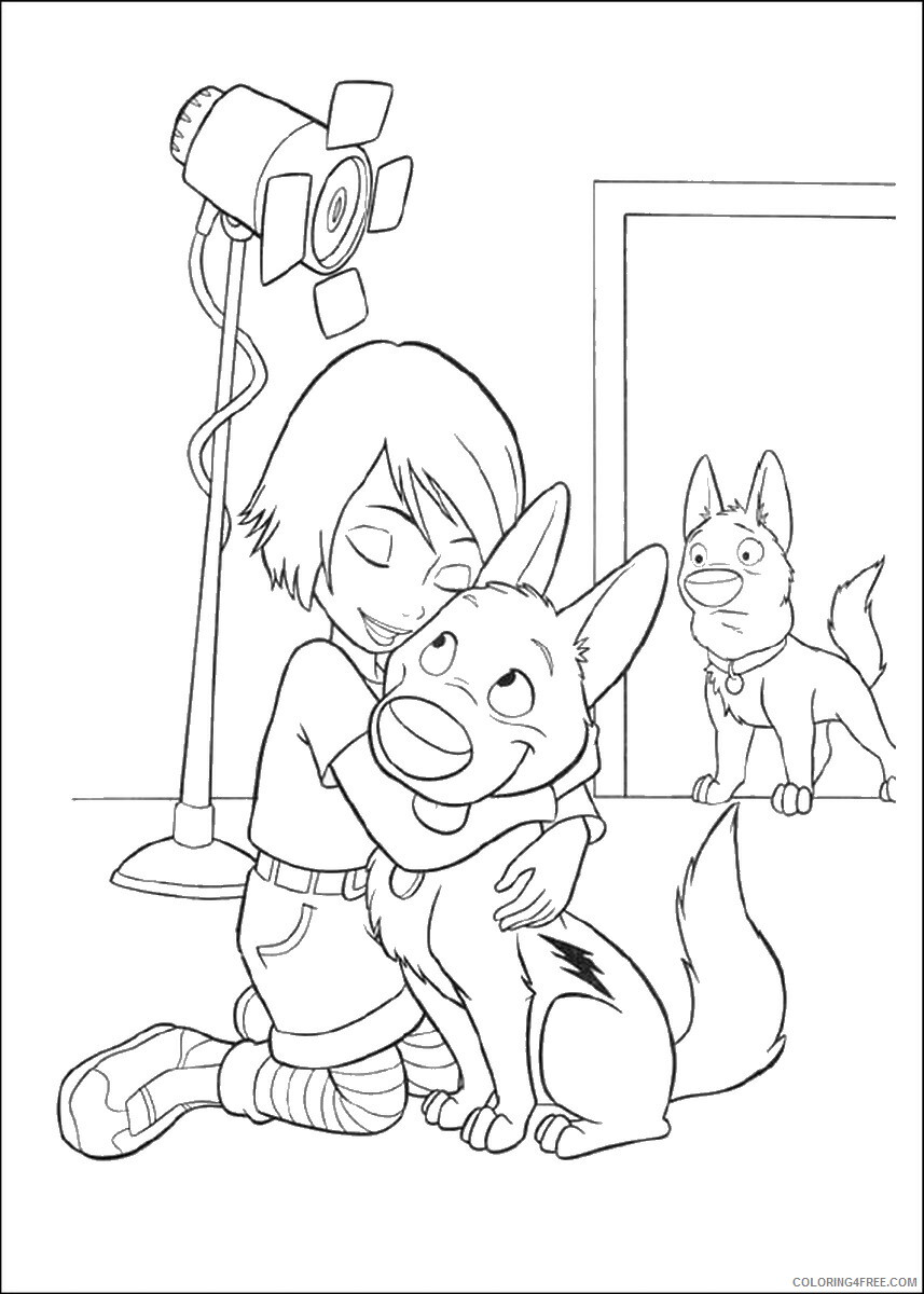 Bolt Coloring Pages TV Film bolt_cl_23 Printable 2020 01184 Coloring4free