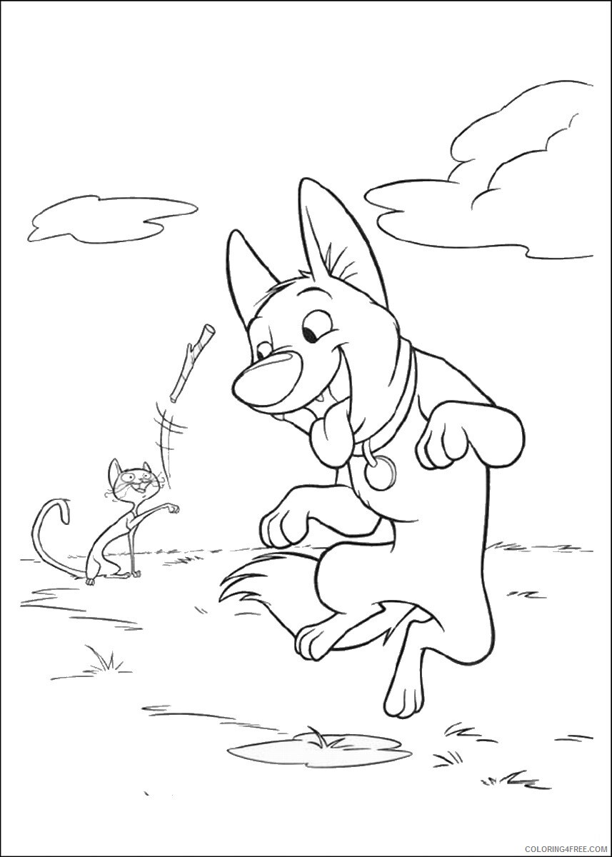 Bolt Coloring Pages TV Film bolt_cl_25 Printable 2020 01186 Coloring4free