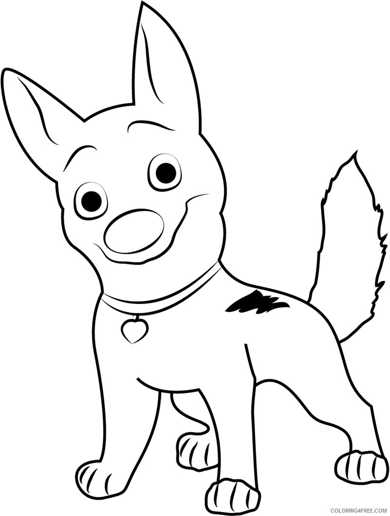 Bolt Coloring Pages TV Film happy bolt a4 Printable 2020 01155 Coloring4free