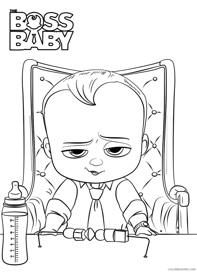 Boss Baby Coloring Pages TV Film Boss Baby 1 Printable 2020 01266 Coloring4free