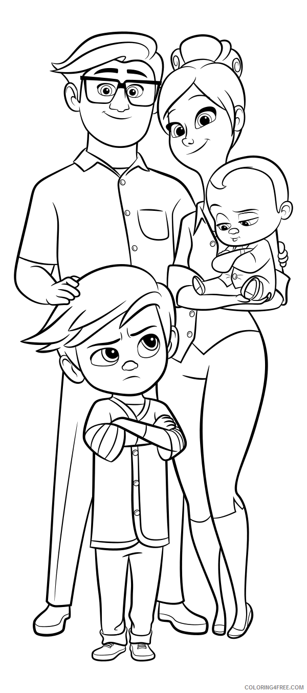 Boss Baby Coloring Pages TV Film Boss Baby Characters Printable 2020 01264 Coloring4free