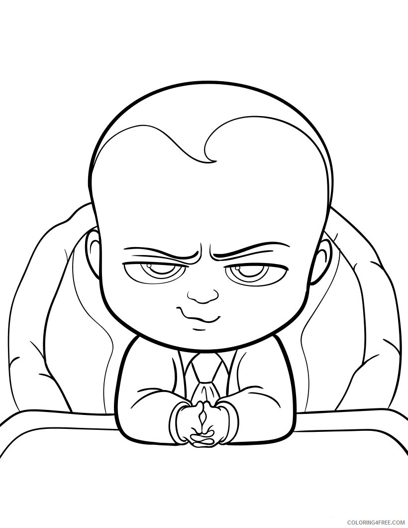 Boss Baby Coloring Pages TV Film Boss Baby Printable 2020 01265 Coloring4free