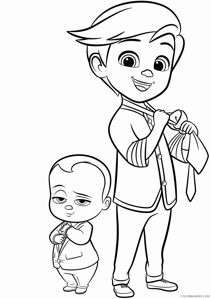 Boss Baby Coloring Pages TV Film Boss Baby Printable 2020 01269 Coloring4free