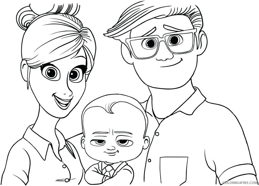 Boss Baby Coloring Pages TV Film Dreamworks Boss Baby Printable 2020 01273 Coloring4free