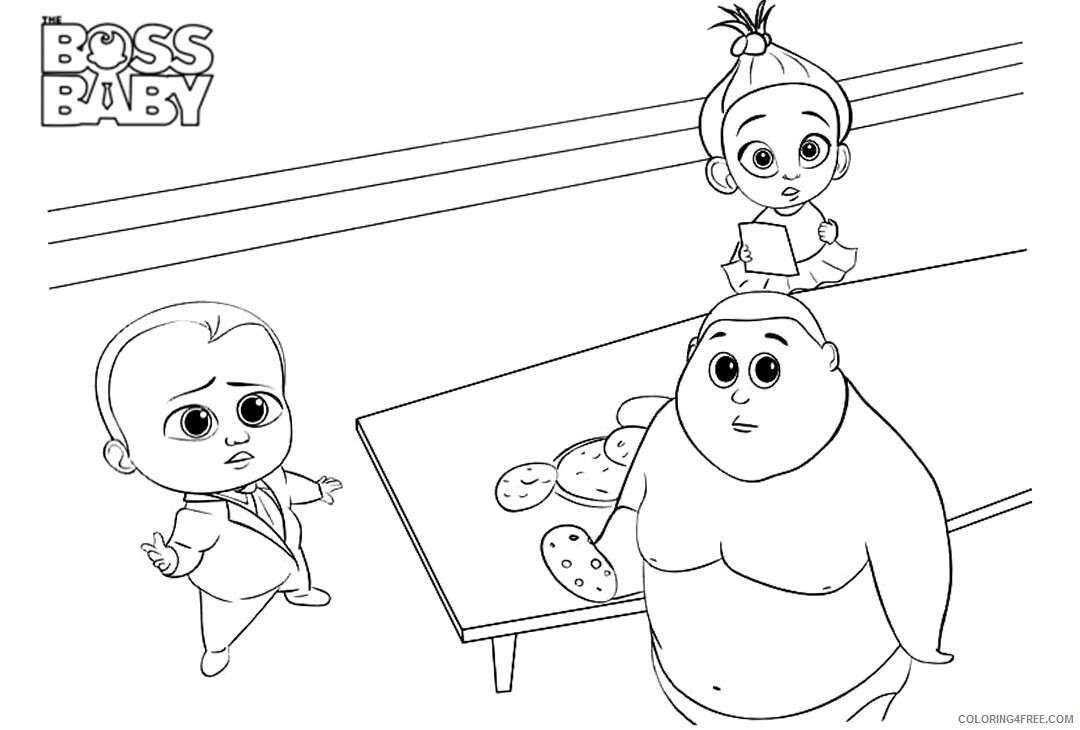 Boss Baby Coloring Pages TV Film Free Boss Baby Printable 2020 01275 Coloring4free