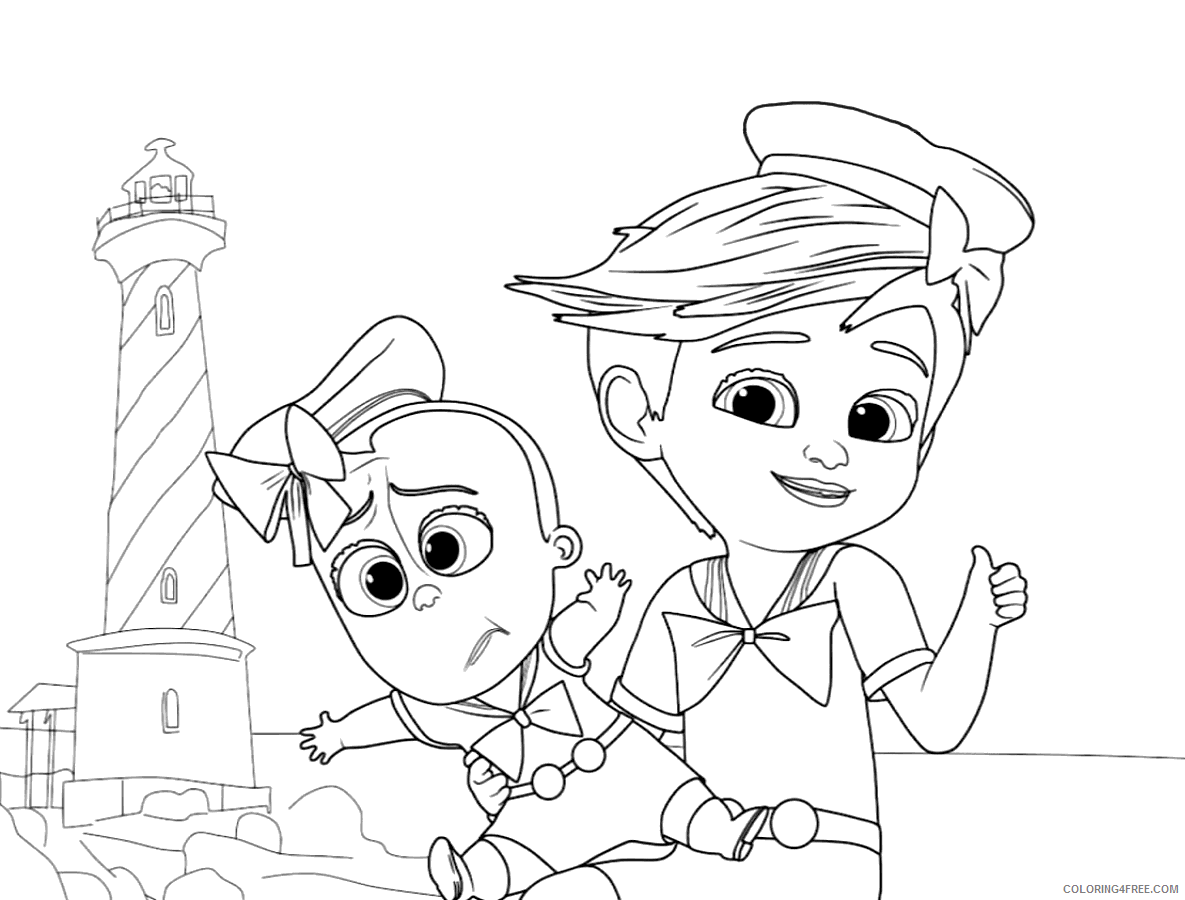 Boss Baby Coloring Pages TV Film Free Boss Baby Printable 2020 01276 Coloring4free
