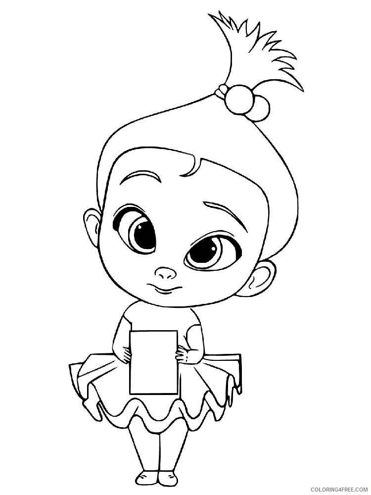 Boss Baby Coloring Pages TV Film The Boss Baby 1 Printable 2020 01290 Coloring4free