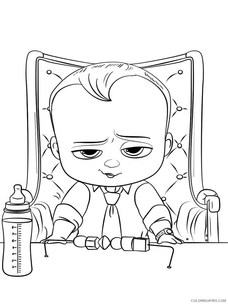 Boss Baby Coloring Pages TV Film The Boss Baby 10 Printable 2020 01291 Coloring4free