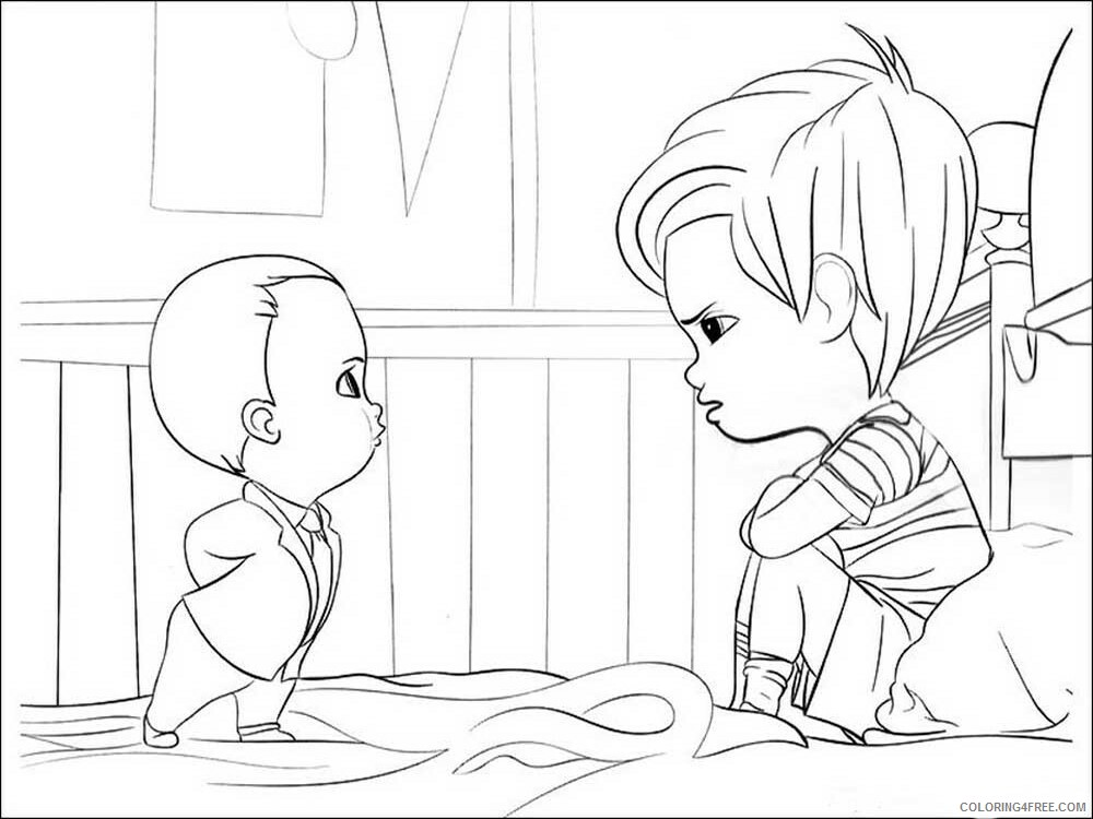 Boss Baby Coloring Pages Tv Film The Boss Baby 13 Printable 2020 01294 Coloring4free Coloring4free Com