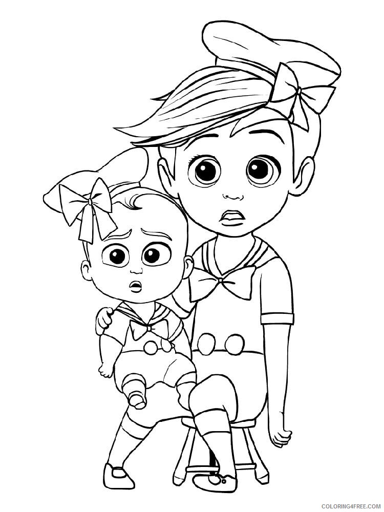 Boss Baby Coloring Pages TV Film The Boss Baby 2 Printable 2020 01297 Coloring4free