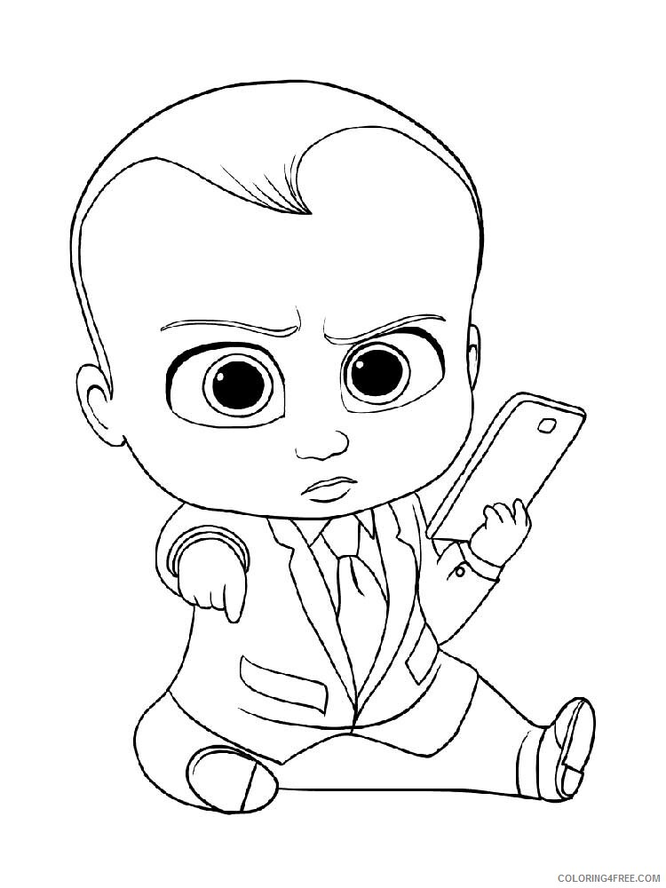 Boss Baby Coloring Pages TV Film The Boss Baby 3 Printable 2020 01298 Coloring4free