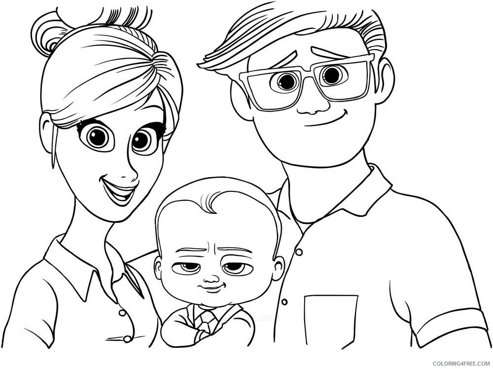 Boss Baby Coloring Pages TV Film The Boss Baby 4 Printable 2020 01299 Coloring4free
