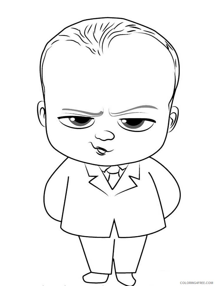 Boss Baby Coloring Pages TV Film The Boss Baby 7 Printable 2020 01302 Coloring4free