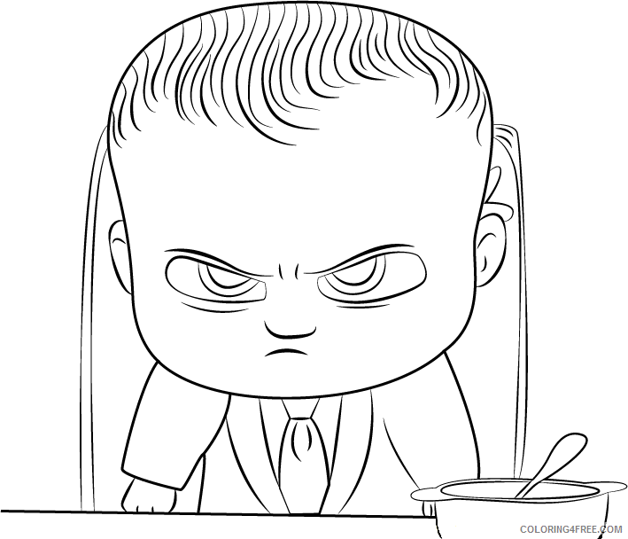 Boss Baby Coloring Pages TV Film angry boss baby Printable 2020 01257 Coloring4free