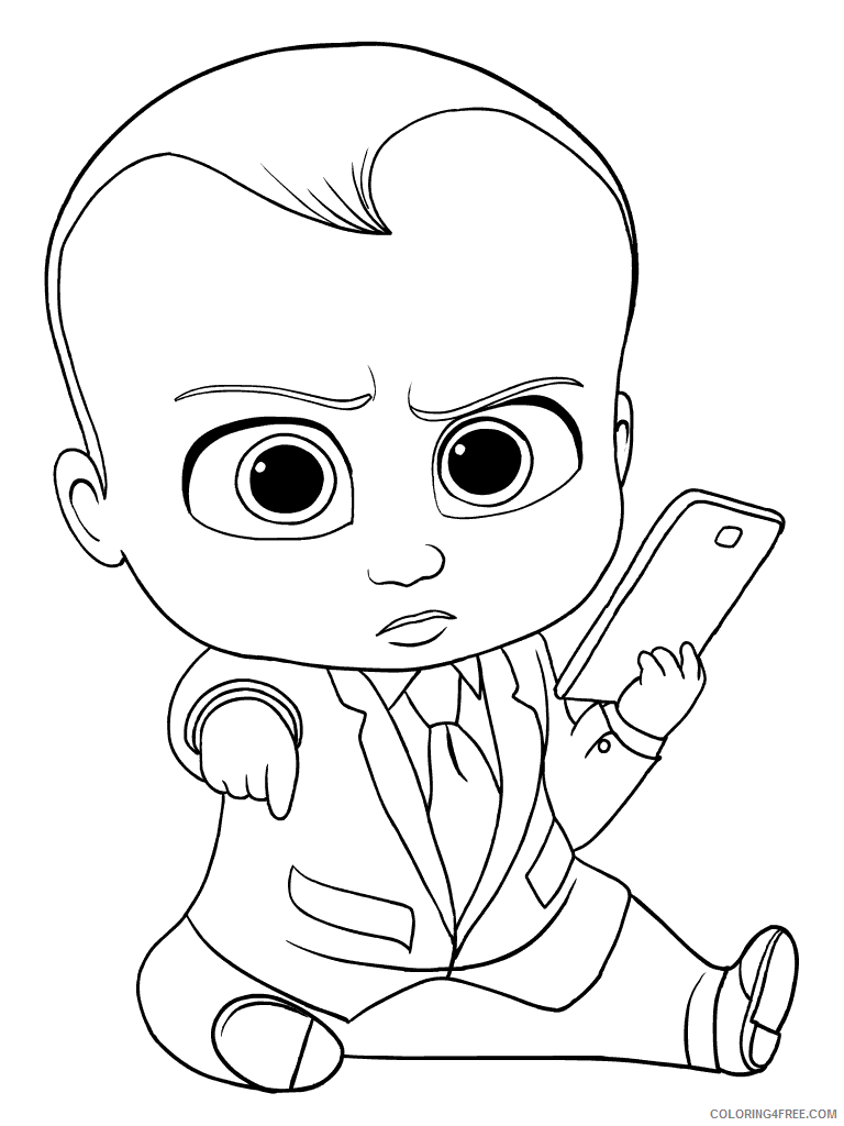 Boss Baby Coloring Pages TV Film boss baby 15 Printable 2020 01254 Coloring4free