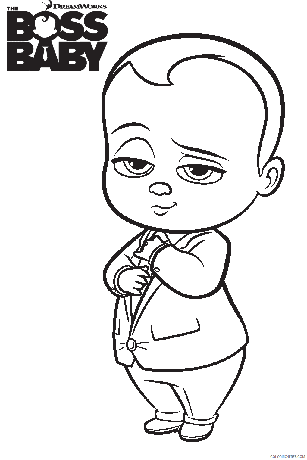 Boss Baby Coloring Pages TV Film boss baby a4 Printable 2020 01250 Coloring4free