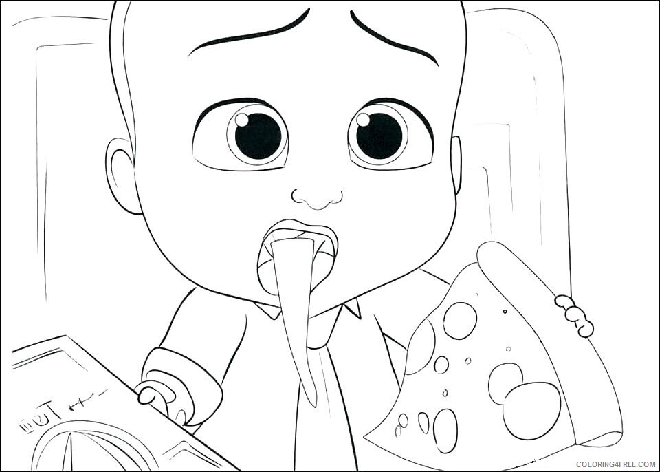 Boss Baby Coloring Pages TV Film boss baby family by online Printable 2020 01255 Coloring4free