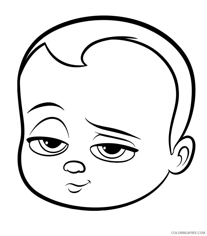 Boss Baby Coloring Pages TV Film coloriage enfant baby boss Printable 2020 01263 Coloring4free