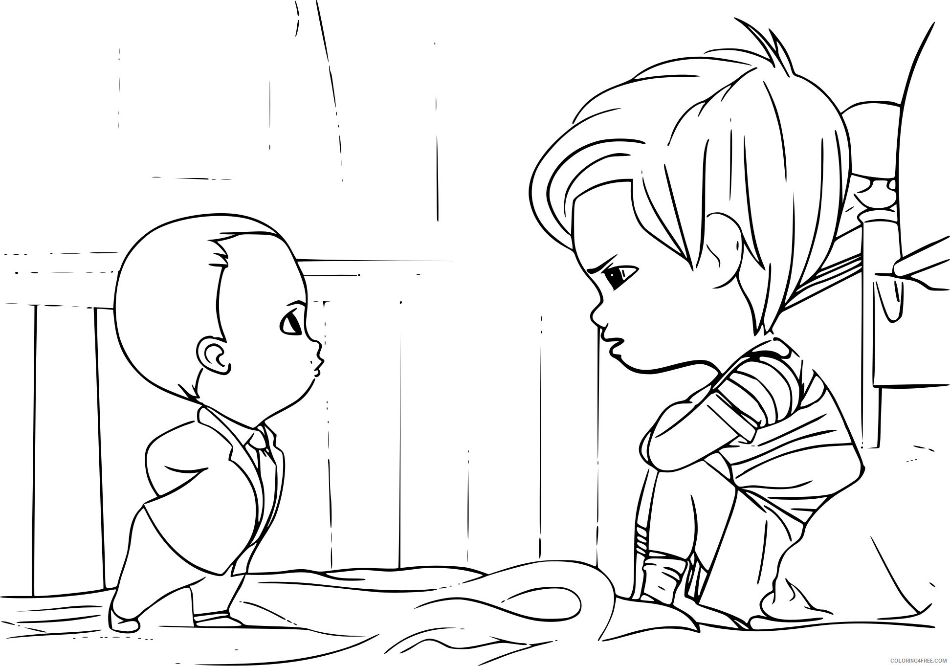 Boss Baby Coloring Pages TV Film coloriagetimbabyboss Printable 2020 01260 Coloring4free