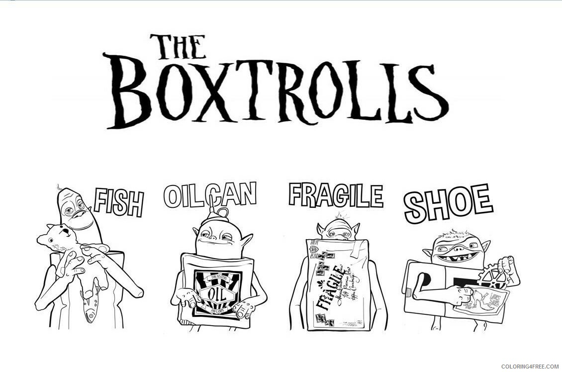 Boxtrolls Coloring Pages TV Film Boxtrolls2 Printable 2020 01308 Coloring4free