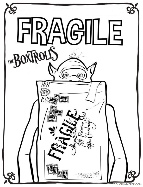 Boxtrolls Coloring Pages TV Film die boxtrolls CCn2l Printable 2020 01315 Coloring4free