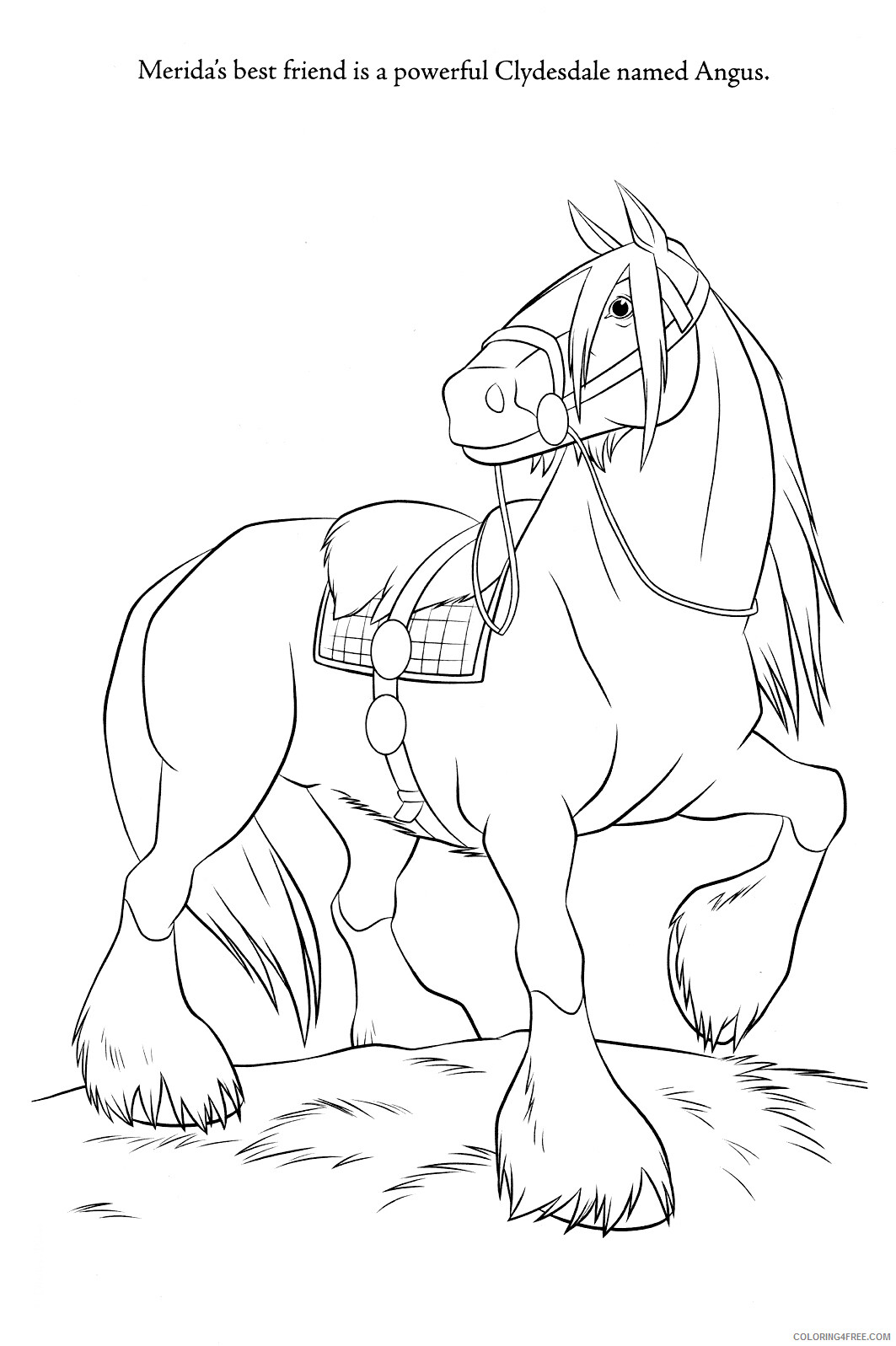 Brave Coloring Pages TV Film Brave Angus Printable 2020 01400 Coloring4free