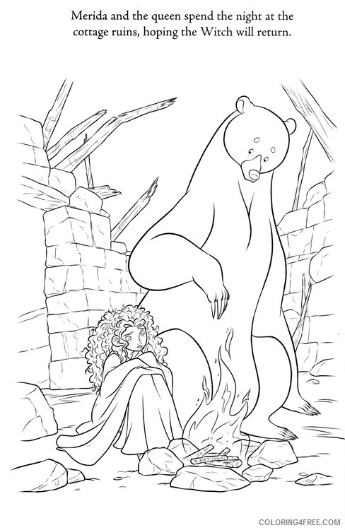 Brave Coloring Pages TV Film Brave Sheet Printable 2020 01415 Coloring4free
