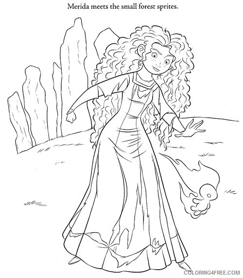 Brave Coloring Pages Tv Film Printable Brave Merida Printable 2020 01420 Coloring4free Coloring4free Com