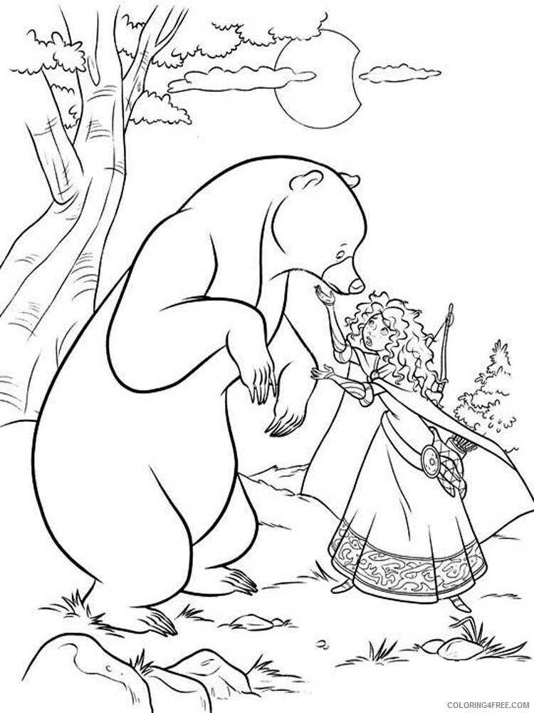 Brave Coloring Pages TV Film brave 1 Printable 2020 01383 Coloring4free