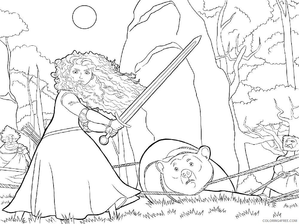 Brave Coloring Pages TV Film brave 11 Printable 2020 01384 Coloring4free