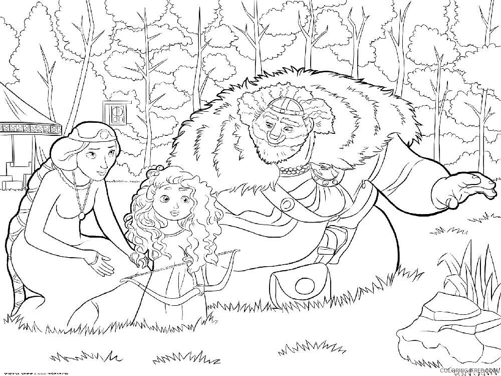 Brave Coloring Pages TV Film brave 13 Printable 2020 01386 Coloring4free