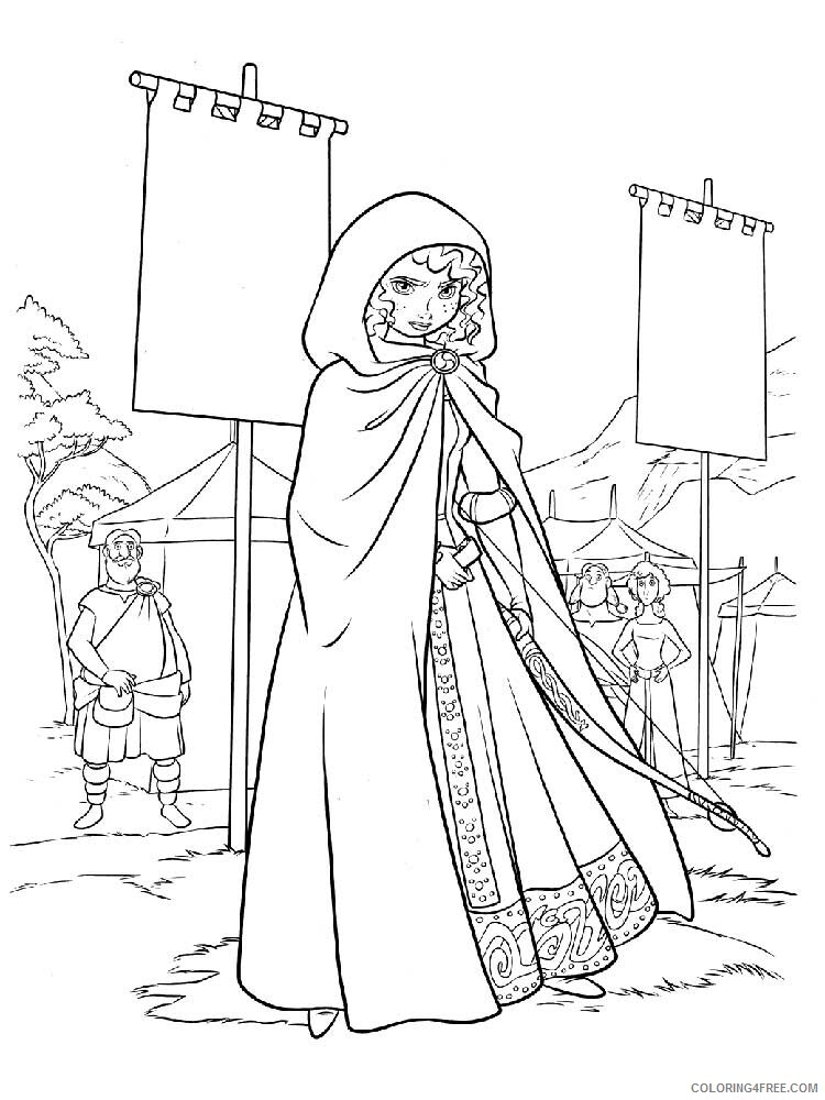 Brave Coloring Pages TV Film brave 14 Printable 2020 01387 Coloring4free