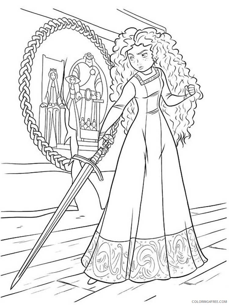 Brave Coloring Pages TV Film brave 3 Printable 2020 01395 Coloring4free
