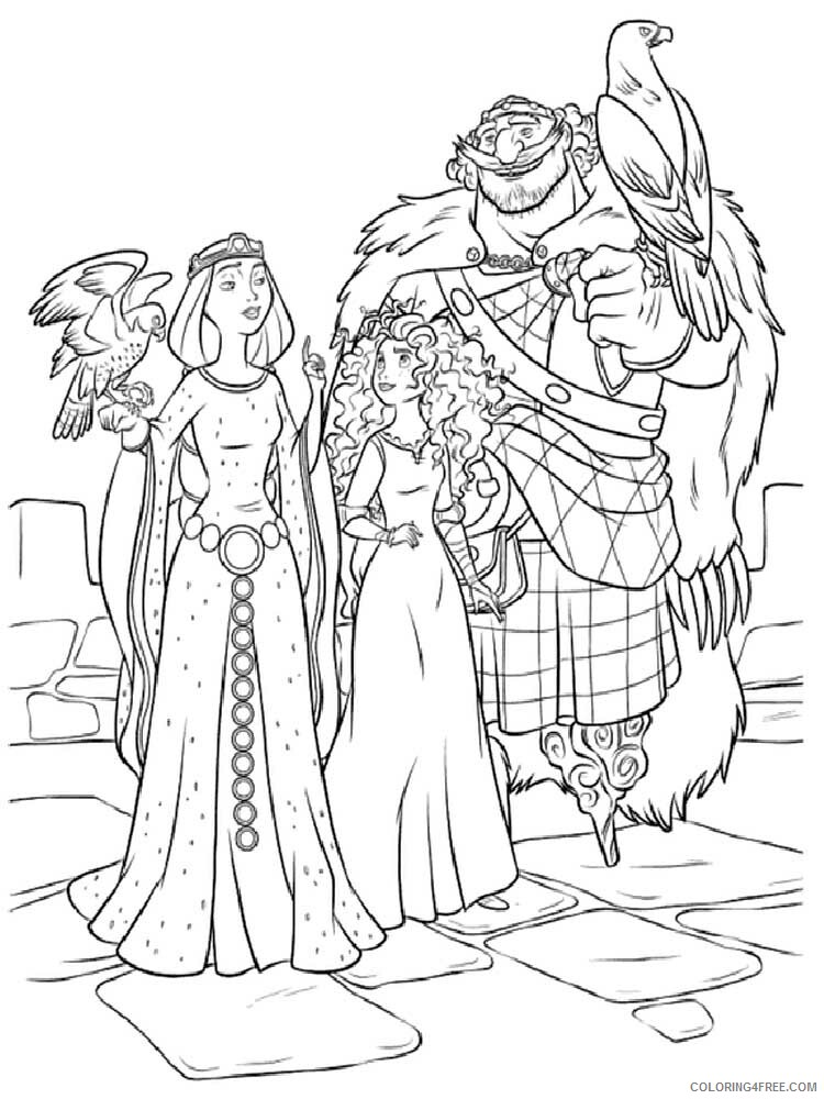 Brave Coloring Pages TV Film brave 5 Printable 2020 01397 Coloring4free