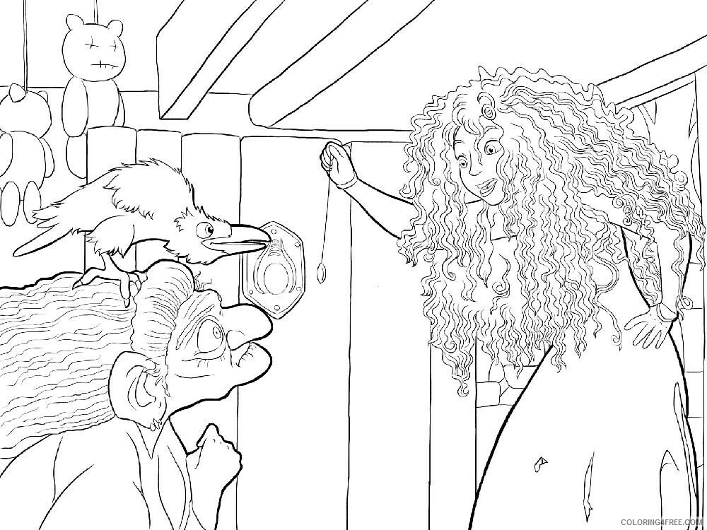Brave Coloring Pages TV Film brave 8 Printable 2020 01399 Coloring4free