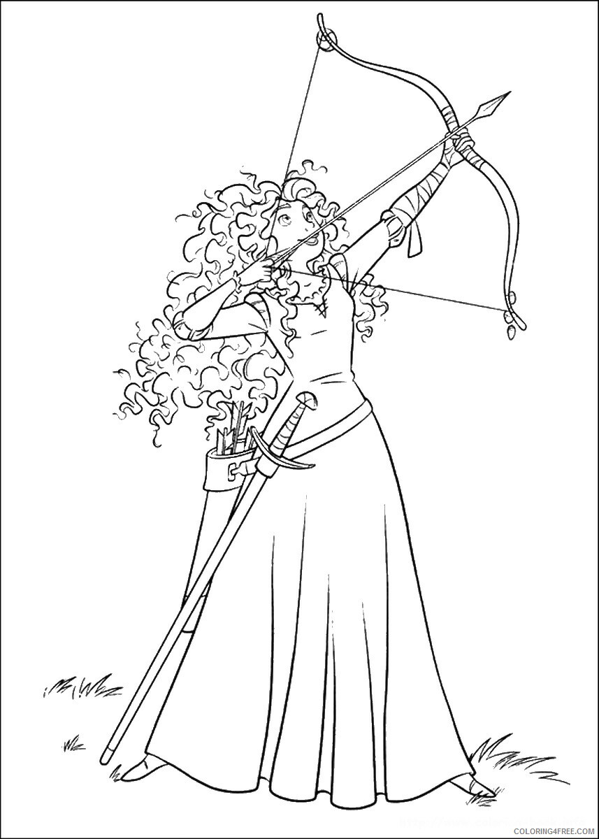 Brave Coloring Pages TV Film brave_cl_01 Printable 2020 01340 Coloring4free