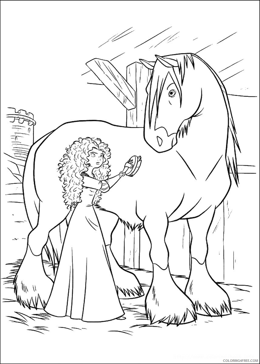 Brave Coloring Pages TV Film brave_cl_02 Printable 2020 01341 Coloring4free