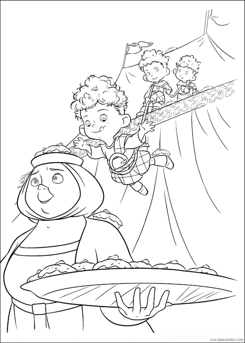 Brave Coloring Pages TV Film brave_cl_04 Printable 2020 01343 Coloring4free
