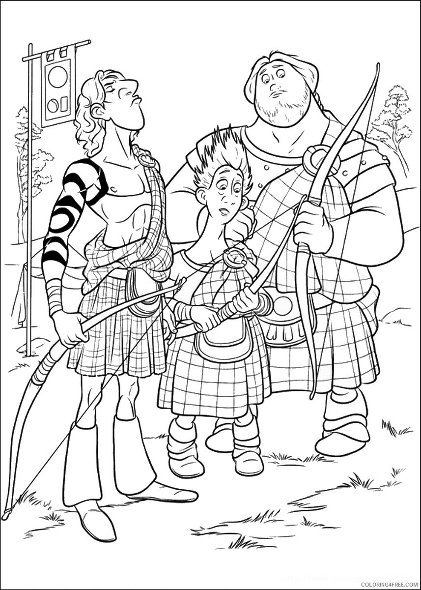 Brave Coloring Pages TV Film brave_cl_05 Printable 2020 01344 Coloring4free