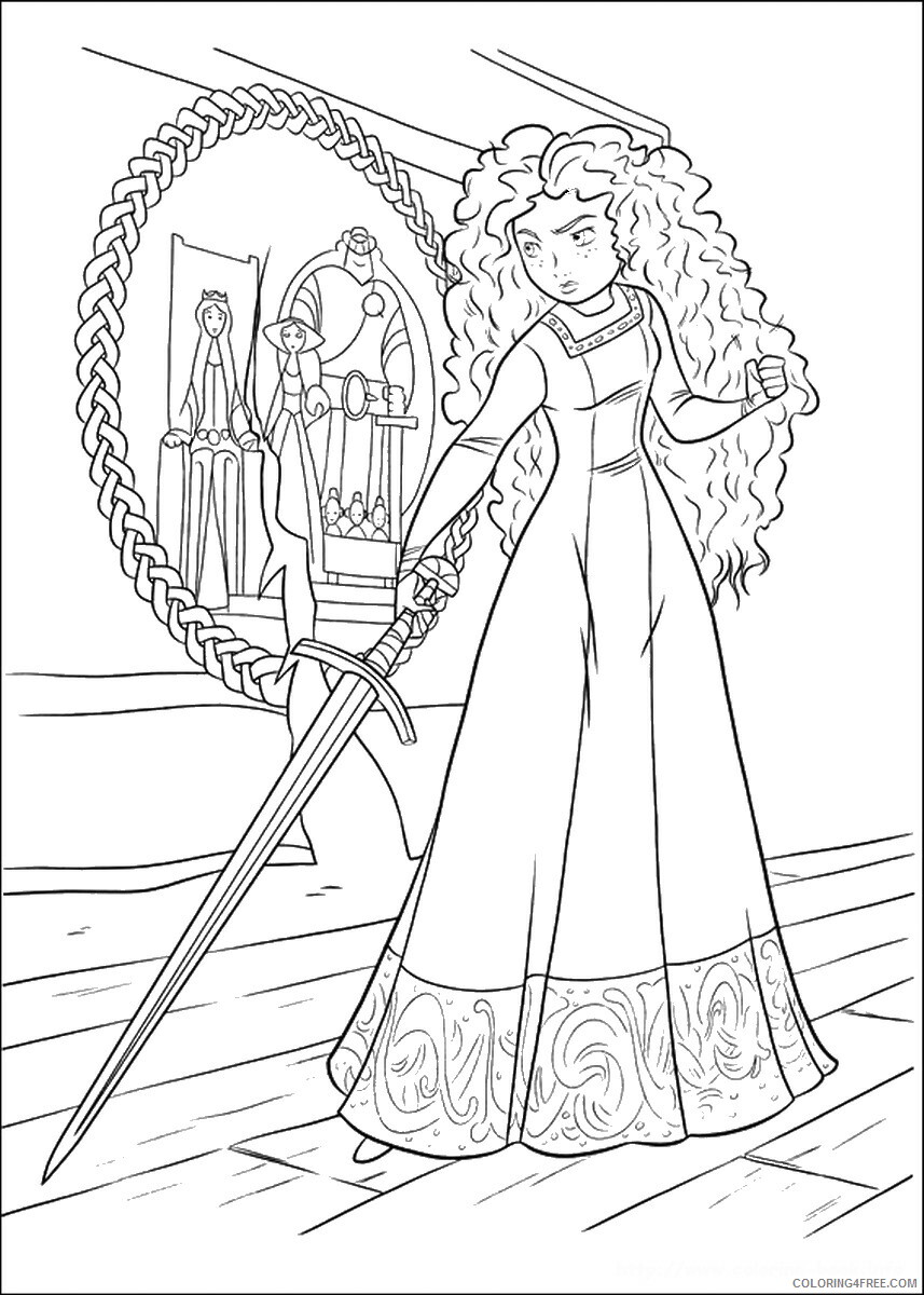 Brave Coloring Pages TV Film brave_cl_06 Printable 2020 01345 Coloring4free