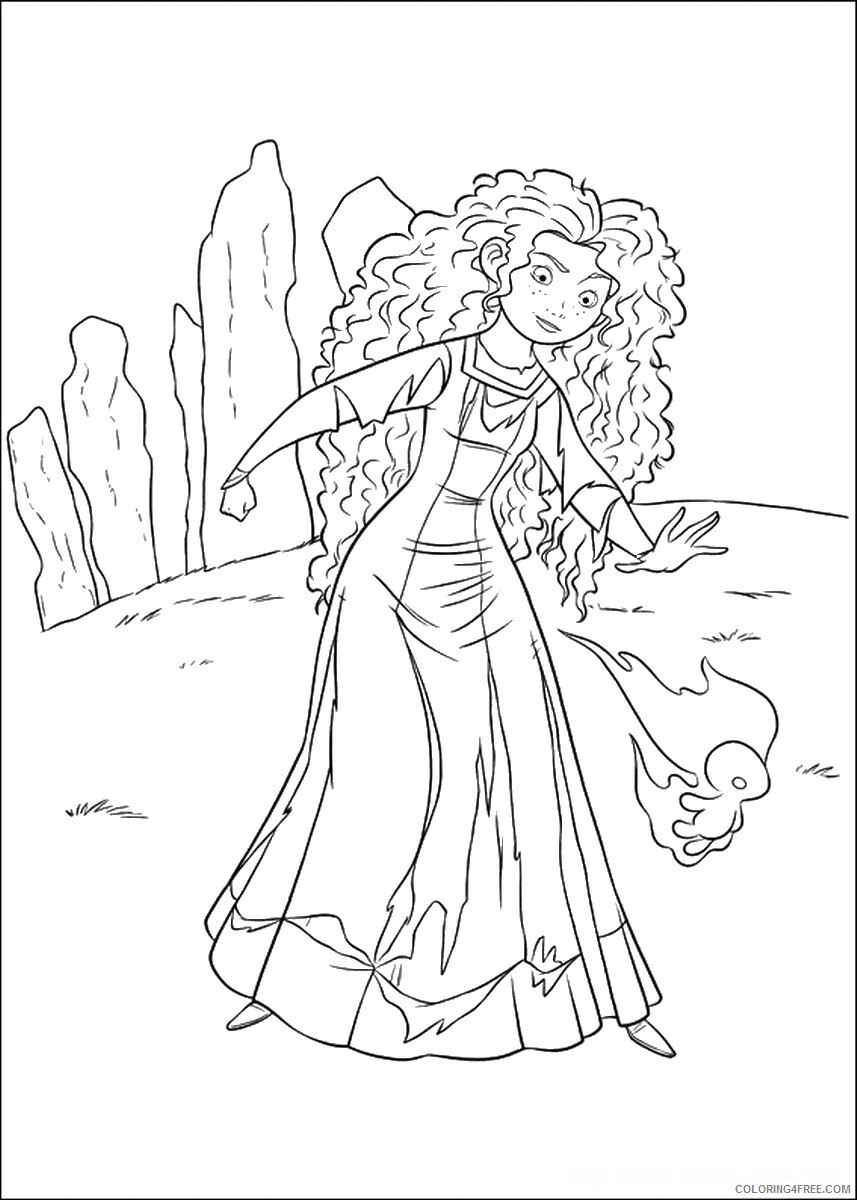 Brave Coloring Pages TV Film brave_cl_07 Printable 2020 01346 Coloring4free
