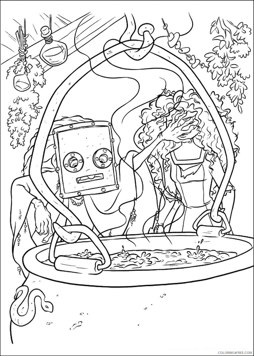 Brave Coloring Pages TV Film brave_cl_09 Printable 2020 01348 Coloring4free