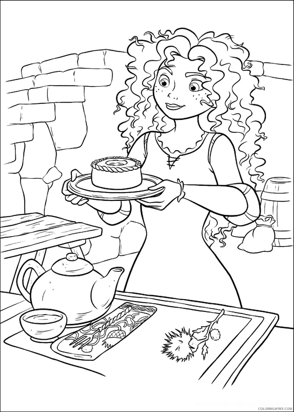 Brave Coloring Pages TV Film brave_cl_11 Printable 2020 01350 Coloring4free