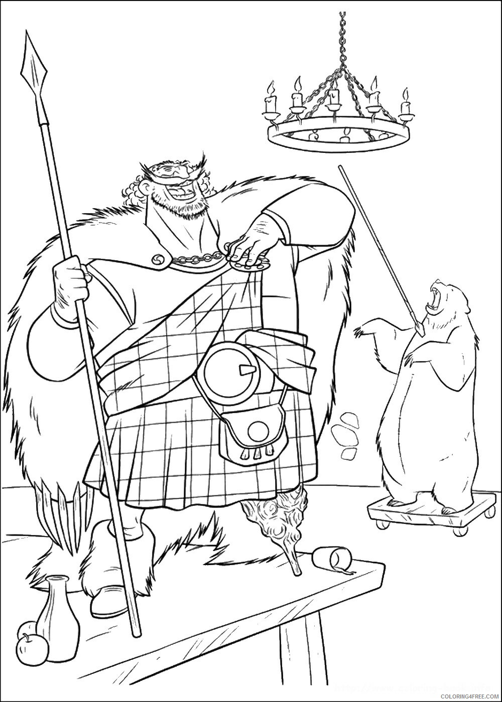 Brave Coloring Pages TV Film brave_cl_12 Printable 2020 01351 Coloring4free