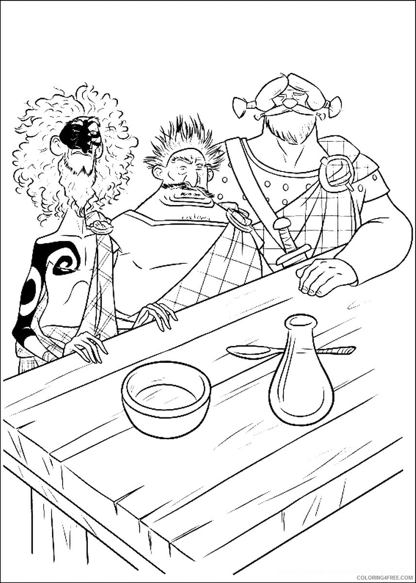 Brave Coloring Pages TV Film brave_cl_13 Printable 2020 01352 Coloring4free