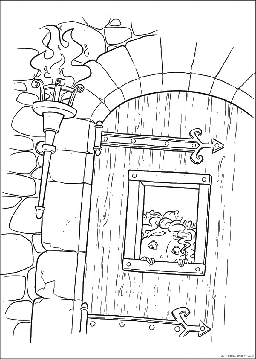 Brave Coloring Pages TV Film brave_cl_20 Printable 2020 01359 Coloring4free