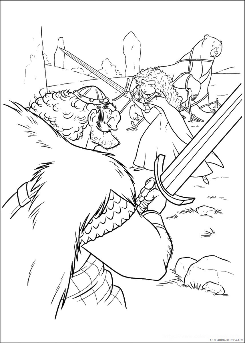Brave Coloring Pages TV Film brave_cl_21 Printable 2020 01360 Coloring4free