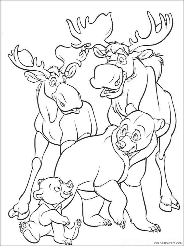 Brother Bear Coloring Pages TV Film brother bear 10 Printable 2020 01477 Coloring4free