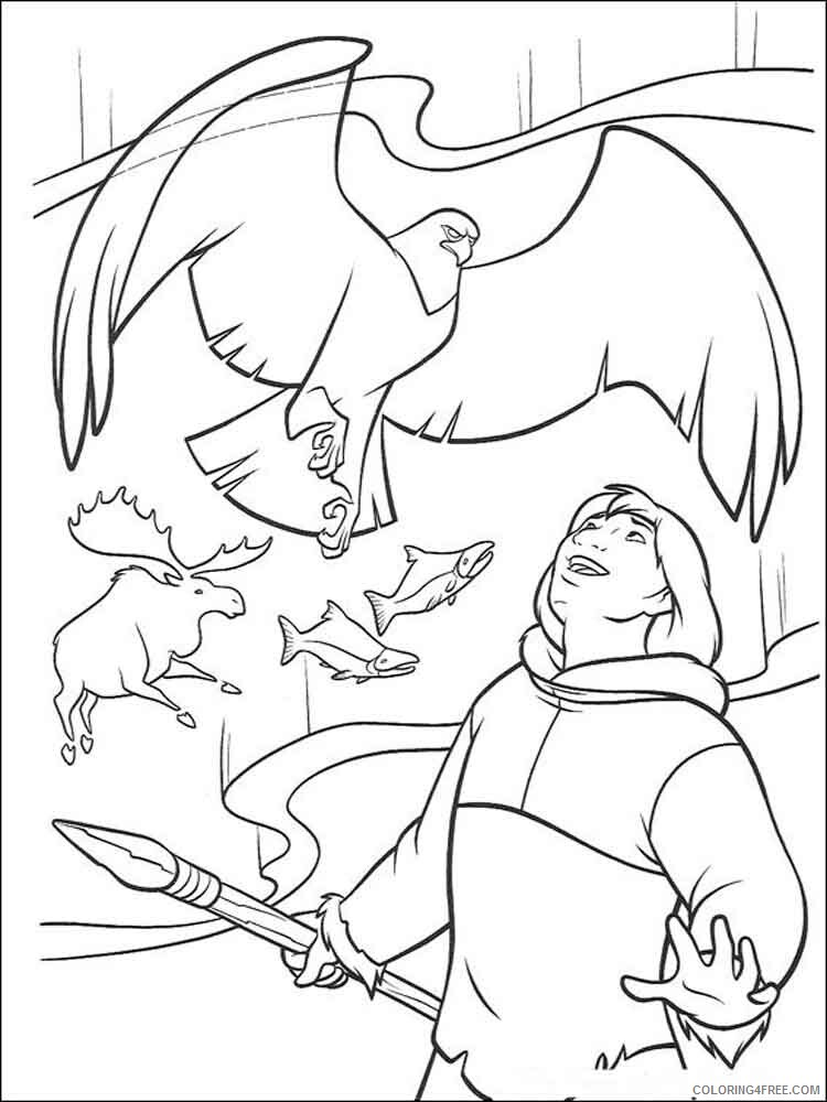 Brother Bear Coloring Pages TV Film brother bear 11 Printable 2020 01479 Coloring4free